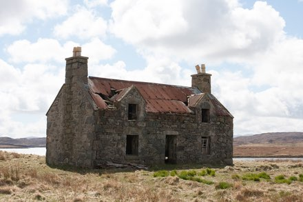 Abandoned house on the Isle of Lewis